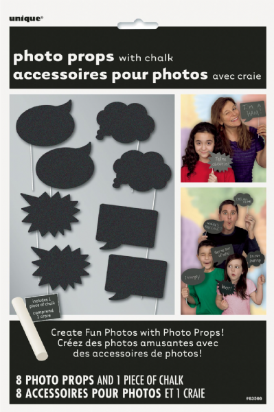 Chalk Photo Props 8ct